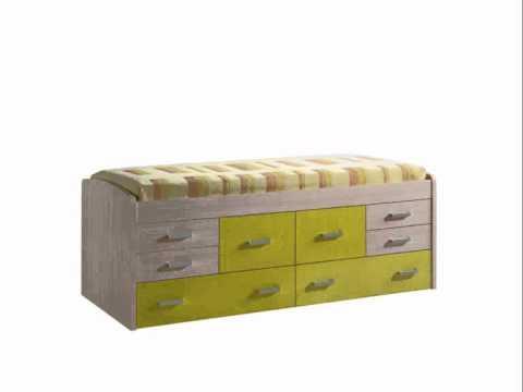 Muebles juveniles en madera maciza dormitorios juveni for Camas compactas desplazables