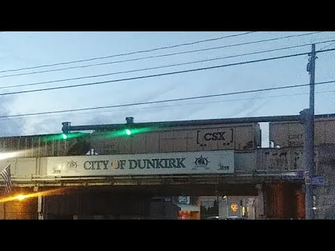 LIVE Freight Train Downtown Dunkirk New York USA