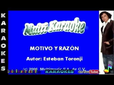 MOTIVO Y RAZÓN - KARAOKE Editado Por Leialel Alejandro Sesto