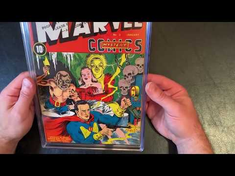 How to remove comics from CGC case slab.  Deslabbing a 1939 Marvel Mystery Golden Age comicbook