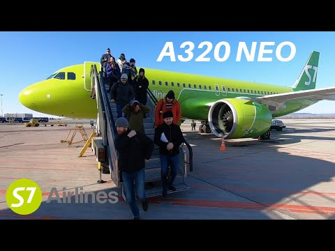 On Board S7's Airbus A320 NEO From Yuzhno Sakhalinsk To Vladivostok