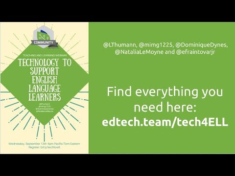 EdTechTeam Live: Technology to Support English Language Learners