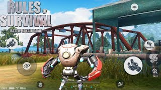 The NEW SUPPORT DROID is INSANE in Rules Of Survival ! Solo Fireteaming with NEW DROID !