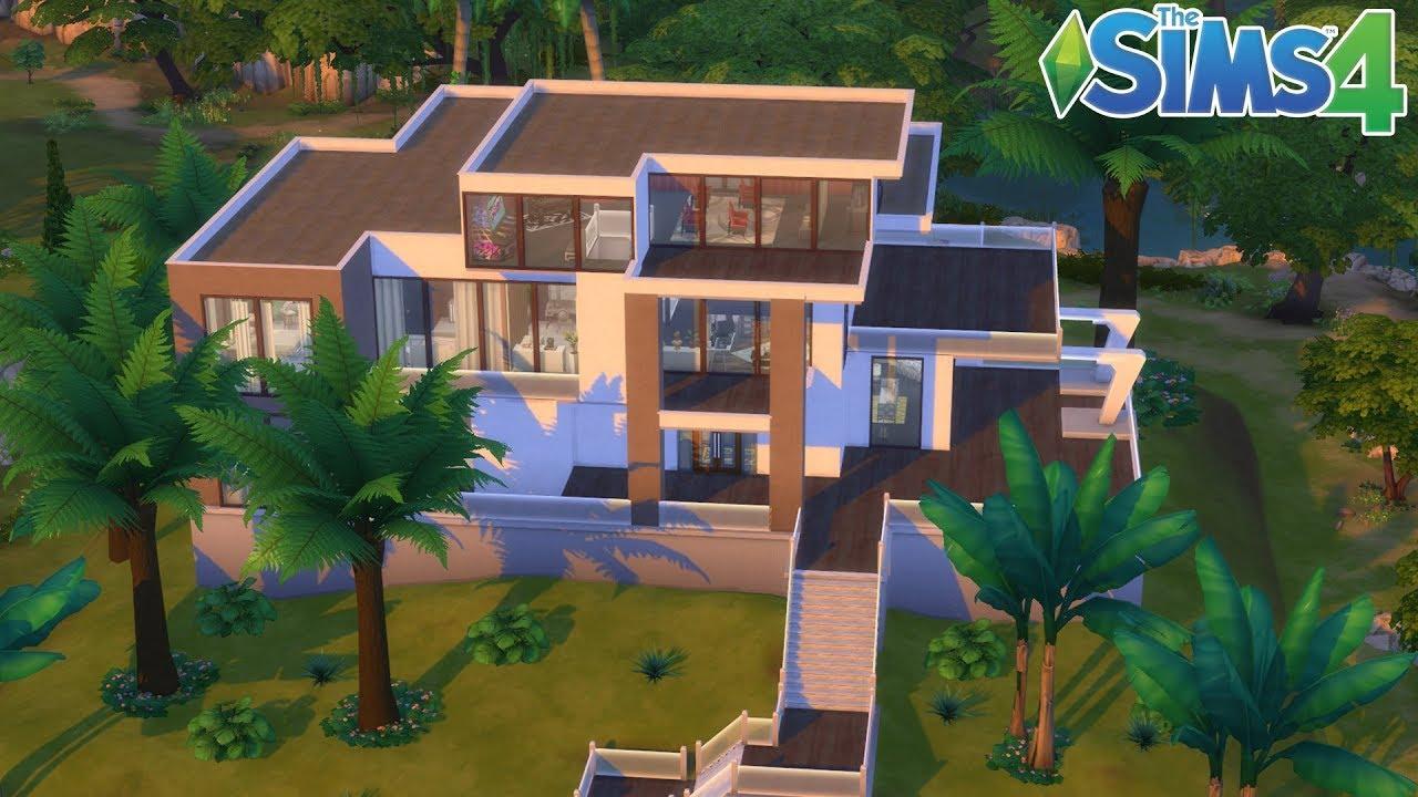 Les Sims 4 : Maison Moderne   Construction sans cc - YouTube