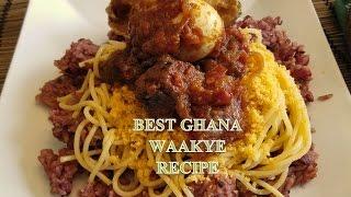 How to make the BEST Ghana Waakye aka Rice & Beans