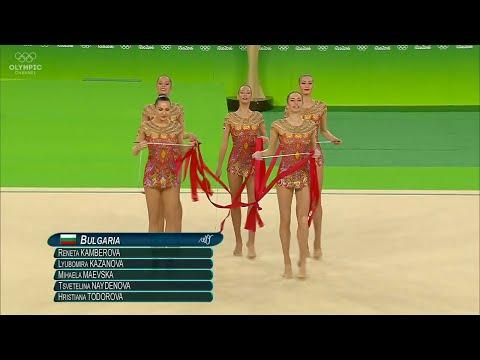 Olympic Games Rio 2016 - Rhythmic Gymnastics Group-Final - Bulgaria Last Routine 2x Hoops + 6x Clubs