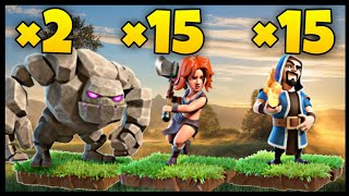 TH9 GoValk (Golem + Valkyrie + Wizard) War Attack Strategy | Part 5 | Clash of Clans
