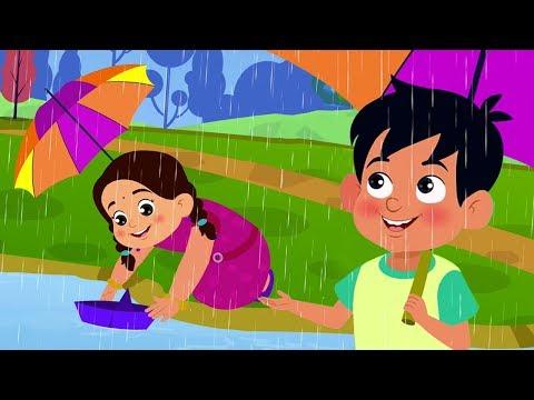 Pani Barsa Cham Cham | पानी बरसा | Hindi Nursery Rhymes | Hindi Balgeet