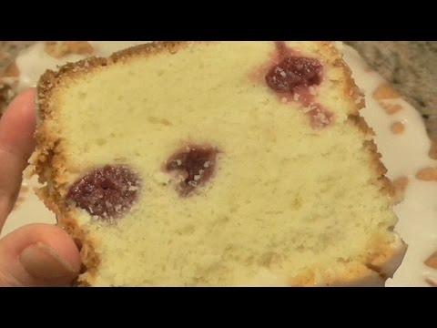 Cream Cheese Cherry Pound Cake