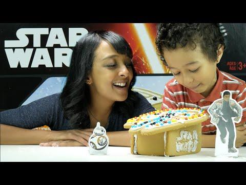 star-wars-millennium-falcon-gingerbread-craft-with-mom,-bb8-&-finn
