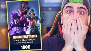 "Shoppo ALL the Pass! ""100"" to UNBLOCK ALL! Fortnite ITA!"