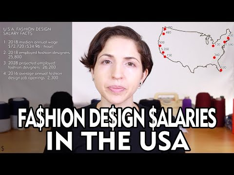 Fashion Design Salaries In The Usa Youtube