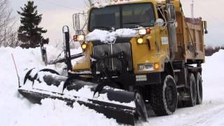 Six Wheel Drive Plow Truck~Winging Back Snow