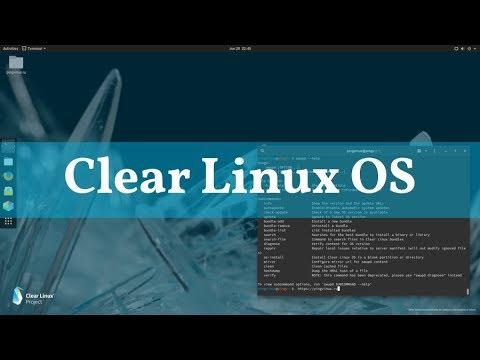 Clear Linux OS: дистрибутив от Intel с особенностями