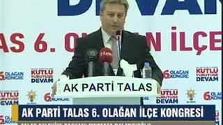 AK Parti Talas 6. Olağan İlçe Kongresi 30.09.2017