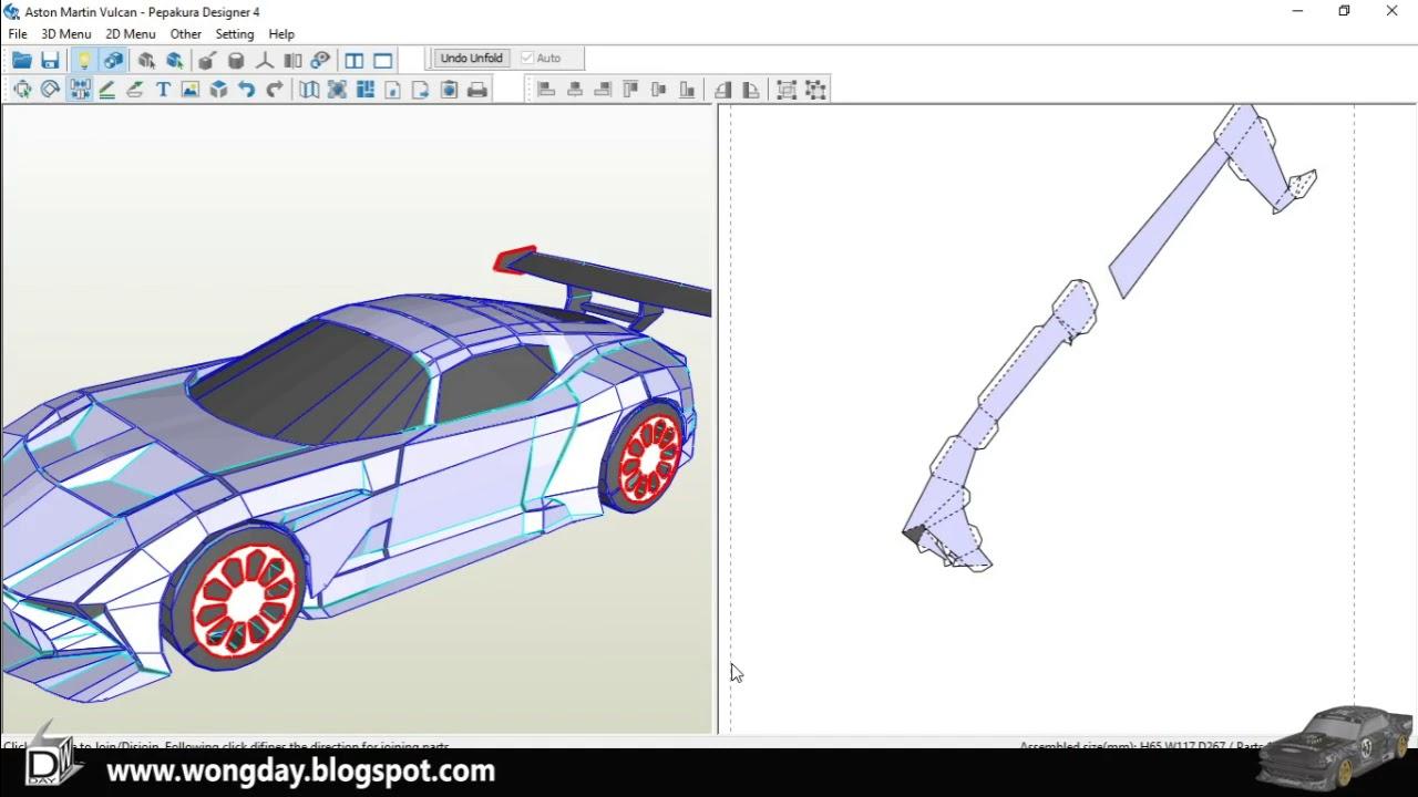 Tutorial Unfold Aston Martin Vulcan Youtube