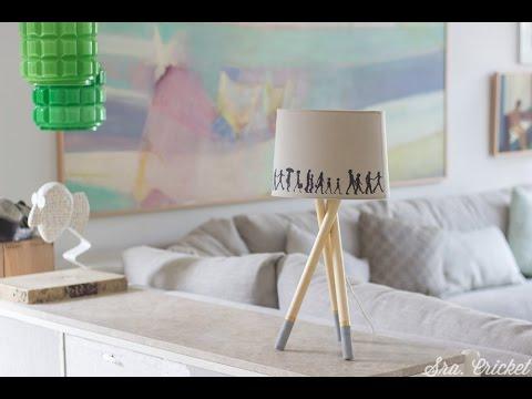 Cómo Hacer Una Lámpara De Mesa Youtube