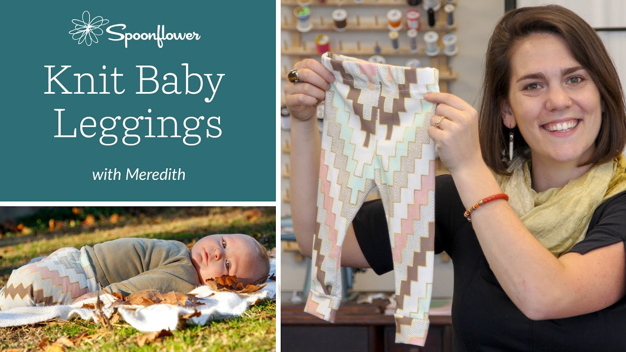 The Perfect Diy Baby Leggings Tutorial Spoonflower Youtube