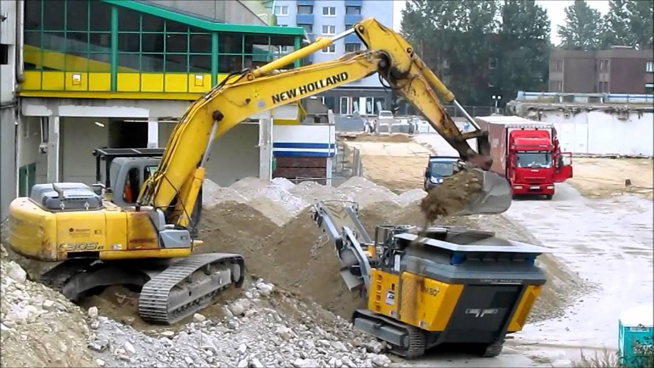 bagger excavator new holland e30b bel dt rubble master rm80 youtube. Black Bedroom Furniture Sets. Home Design Ideas