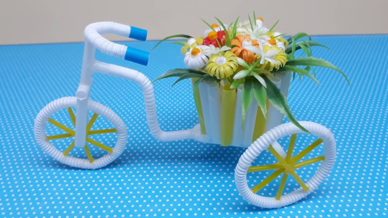 Diy Bicycle Flower Pot Holder Crafts Best Out Of Waste Ideas