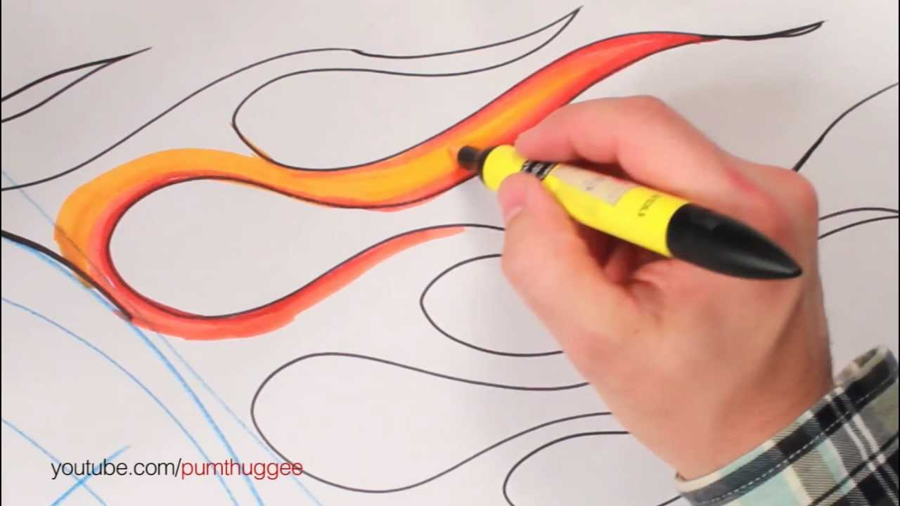 How to Draw Fla... Hot Rod Flame Drawing
