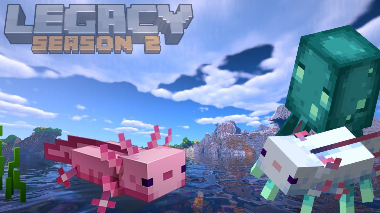 Minecraft 1.17 Survival | LegacySMP Survival Guide | Axolotl hunting (2021)