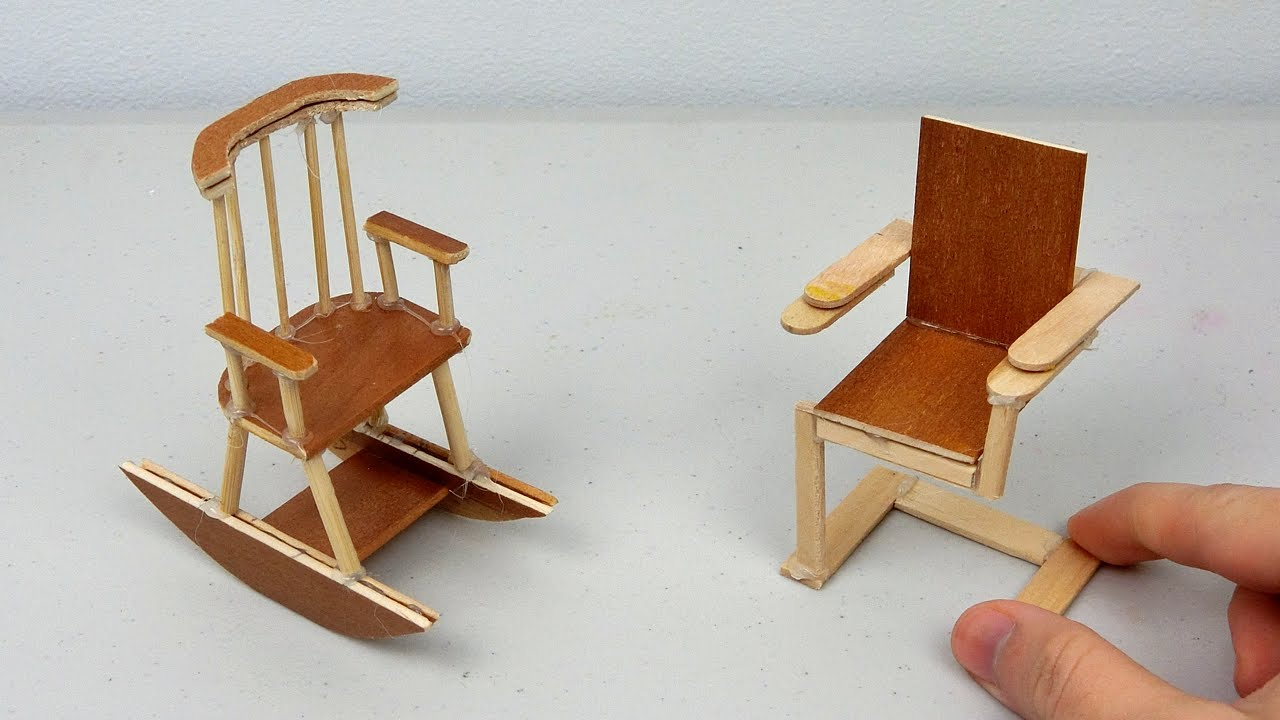 how to build miniature furniture. DIY Miniature Wooden Chairs | Simple \u0026 Easy Crafts Ideas How To Build Furniture