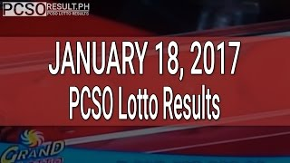 PCSO Lotto Results January 18, 2017 (6/55, 6/45, 4D, Swertres & EZ2)