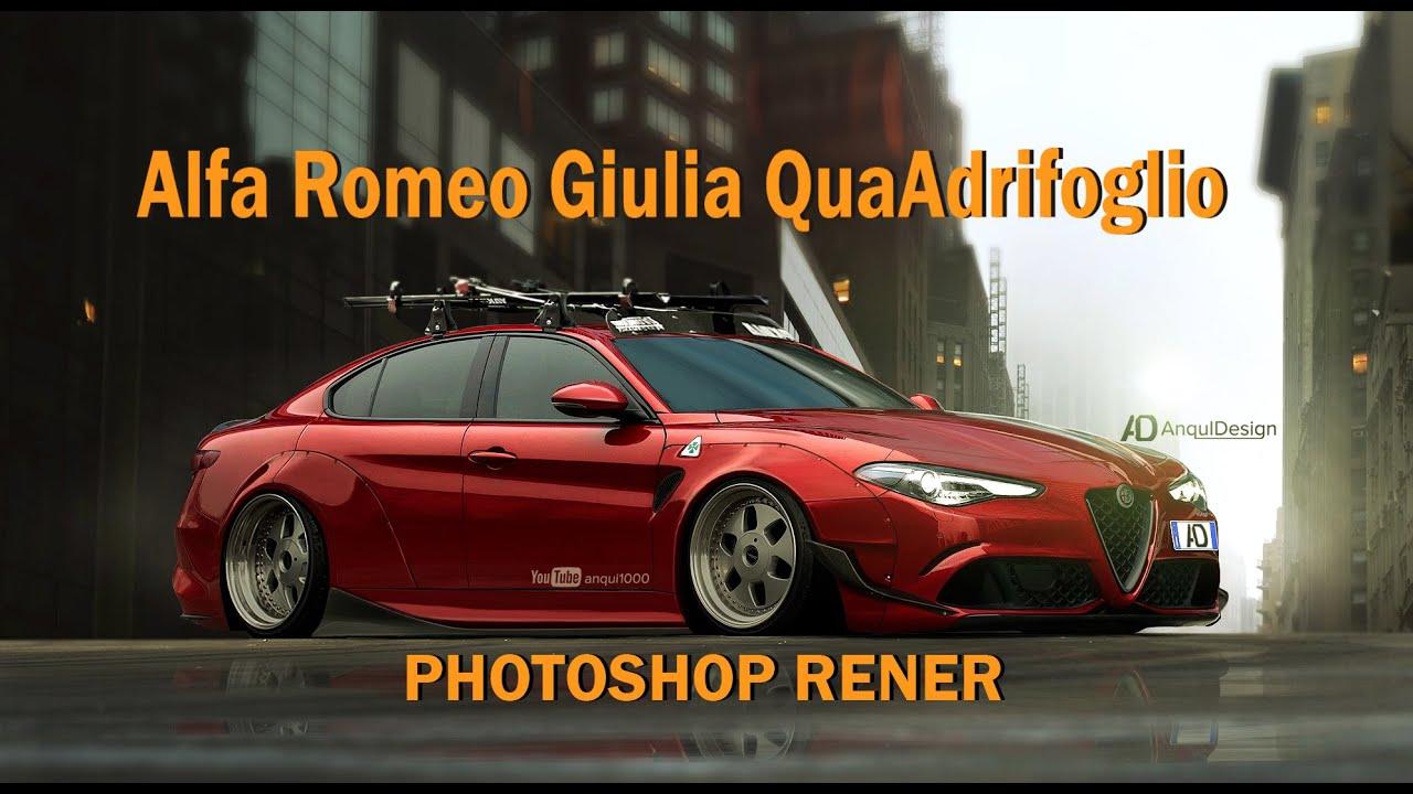 alfa romeo giulia virtual tuning photoshop render youtube. Black Bedroom Furniture Sets. Home Design Ideas
