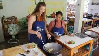 Pad Thai at our Thai cooking Class in Chiang Mai, Thailand.