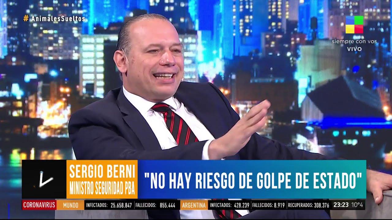 """Berni: """"No hay riesgo de golpe de Estado"""""""