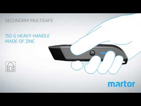 Safety knife MARTOR SECUNORM MULTISAFE product video GB