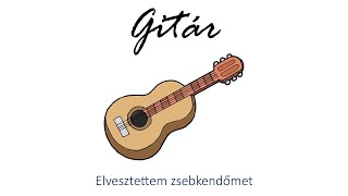 Hangszer ovi - Elvesztettem zsebkendőmet (gitár) / Hungarian children song (cat, cow, dog, animal)