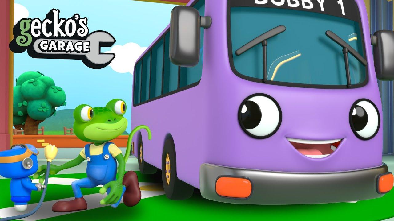 Bobby The Bus Goes Electric! | Gecko's Garage | Trucks For Children | Cartoons For Kids