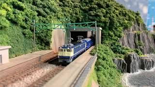 【Nゲージ】貨物列車5052レと東海道を走る列車