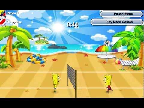 Игры СпанчБоб волейбол (Spongebob World Cup)