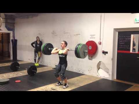TNG Cleans + paused split jerks: 85 x 3+3 by Emma Mcquaid