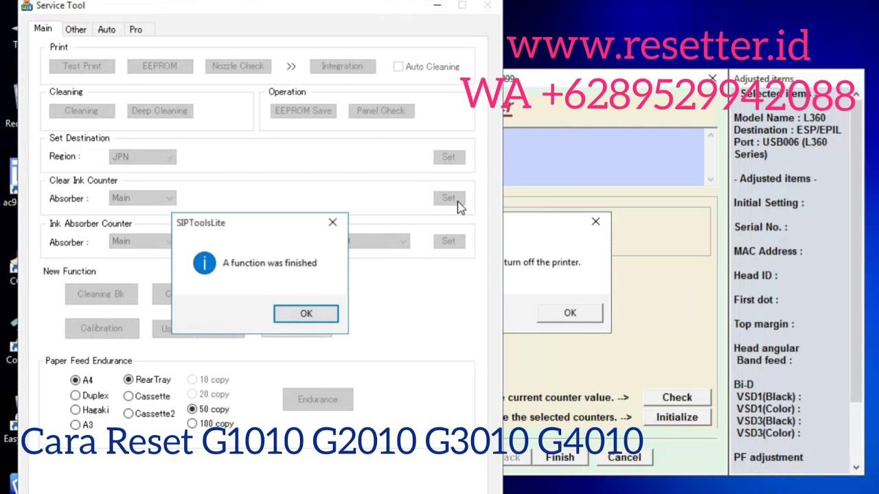Cara Reset Printer Canon ~ Reset Printer