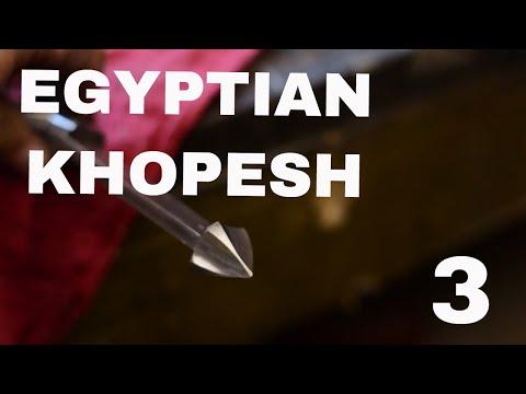MAKING AN EGYPTIAN KHOPESH SWORD!!! Part 3
