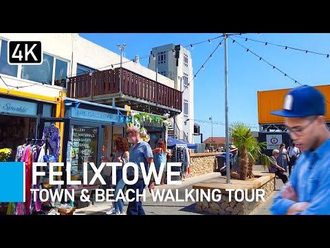 Exploring Felixstowe Beach & Town   Suffolk Walking Tour 2021