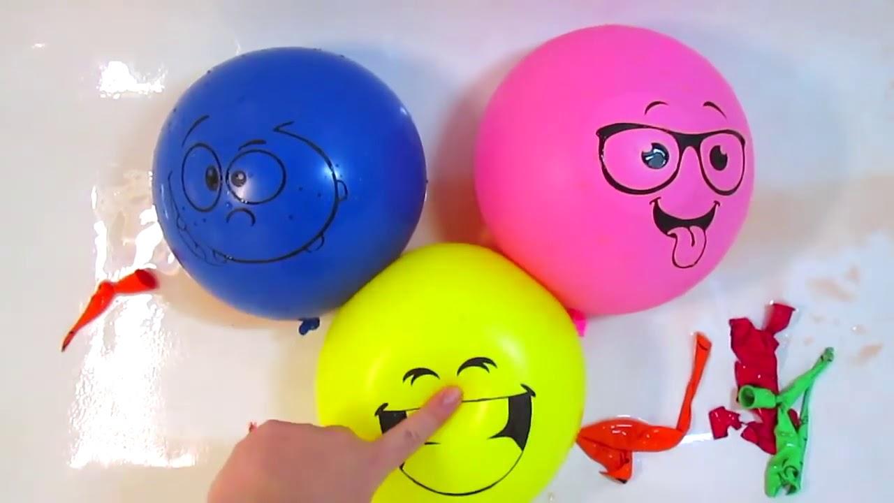 Воздушные шарики с водой Учим цвета для детей Развивающее ...
