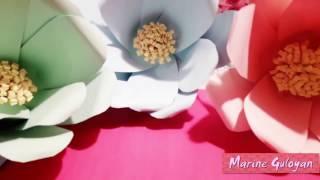 Как сделать Большие бумажные цветы для декора