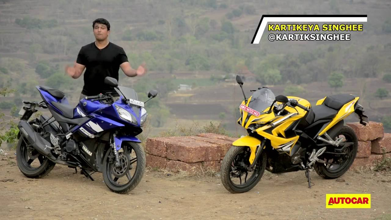 Bajaj Pulsar RS 200 Vs Yamaha YZF R15 Comparison Test And Review By Autocar India