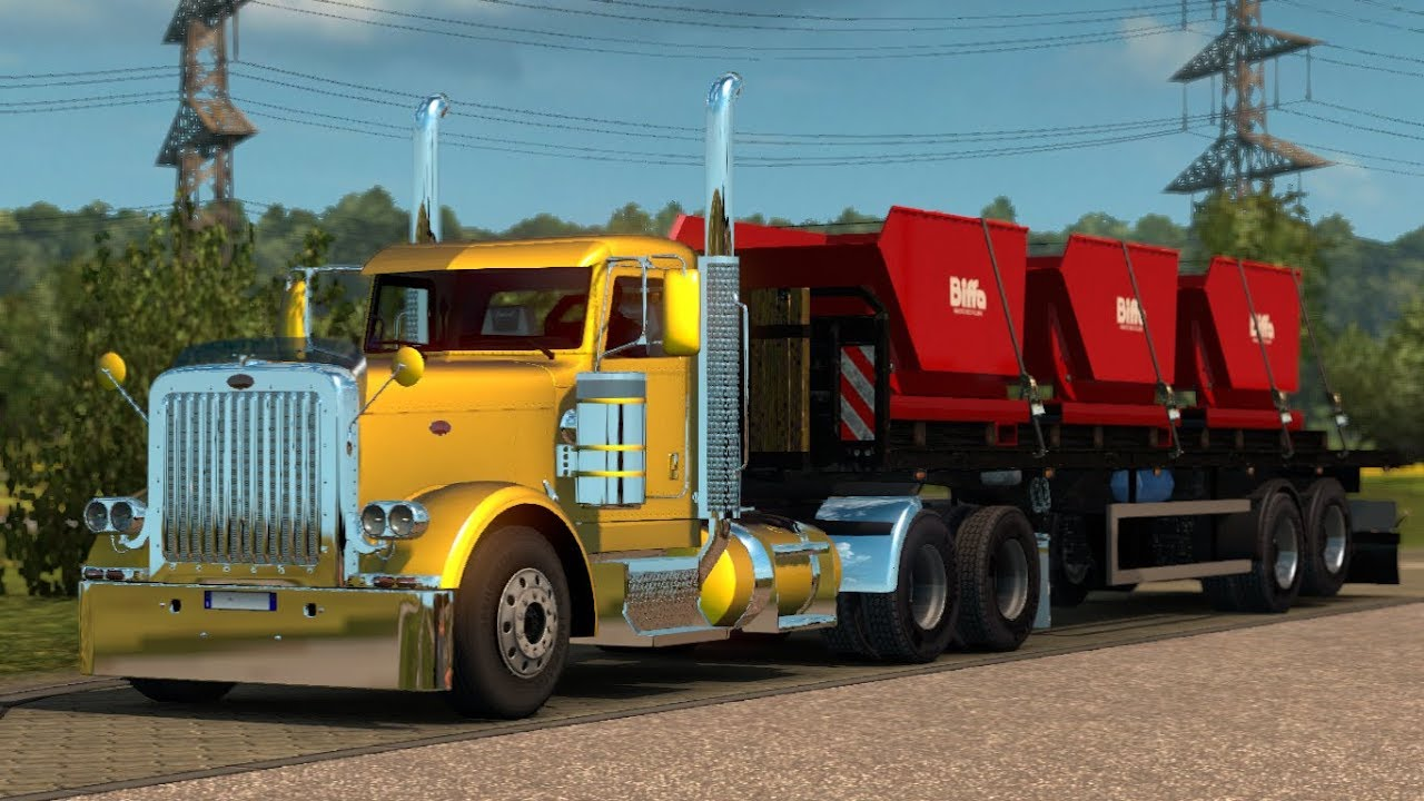 euro truck simulator 2 mods peterbilt 389 tuned youtube. Black Bedroom Furniture Sets. Home Design Ideas