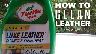 How To Use Turtle Wax Luxe Leather