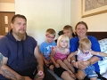 This homeless family with 6 children lives in a small hotel near St Louis