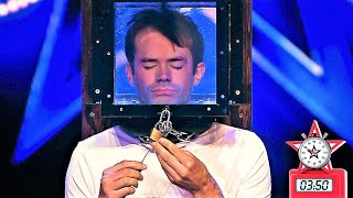 Locked up escape artist holds his breath for 5 minutes In Got Talent