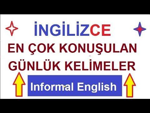 İngilizce En Yaygın Kelimeler - Most Commonly Spoken Words in English-