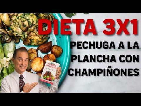 Download Receta Dieta 3x1 Pechuga A La Plancha Con Champiñones - Come Saludable 4