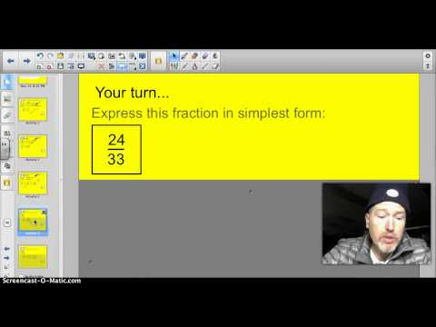 4.4A Simplifying Fractions with Common Factors